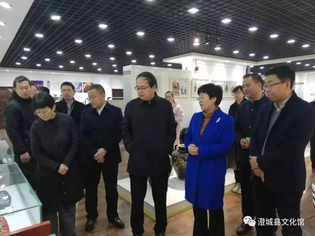 渭南市副市长高洁一行调研澄城县非遗保护传承工作(图)